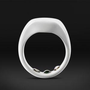 Ōura ring arctic white