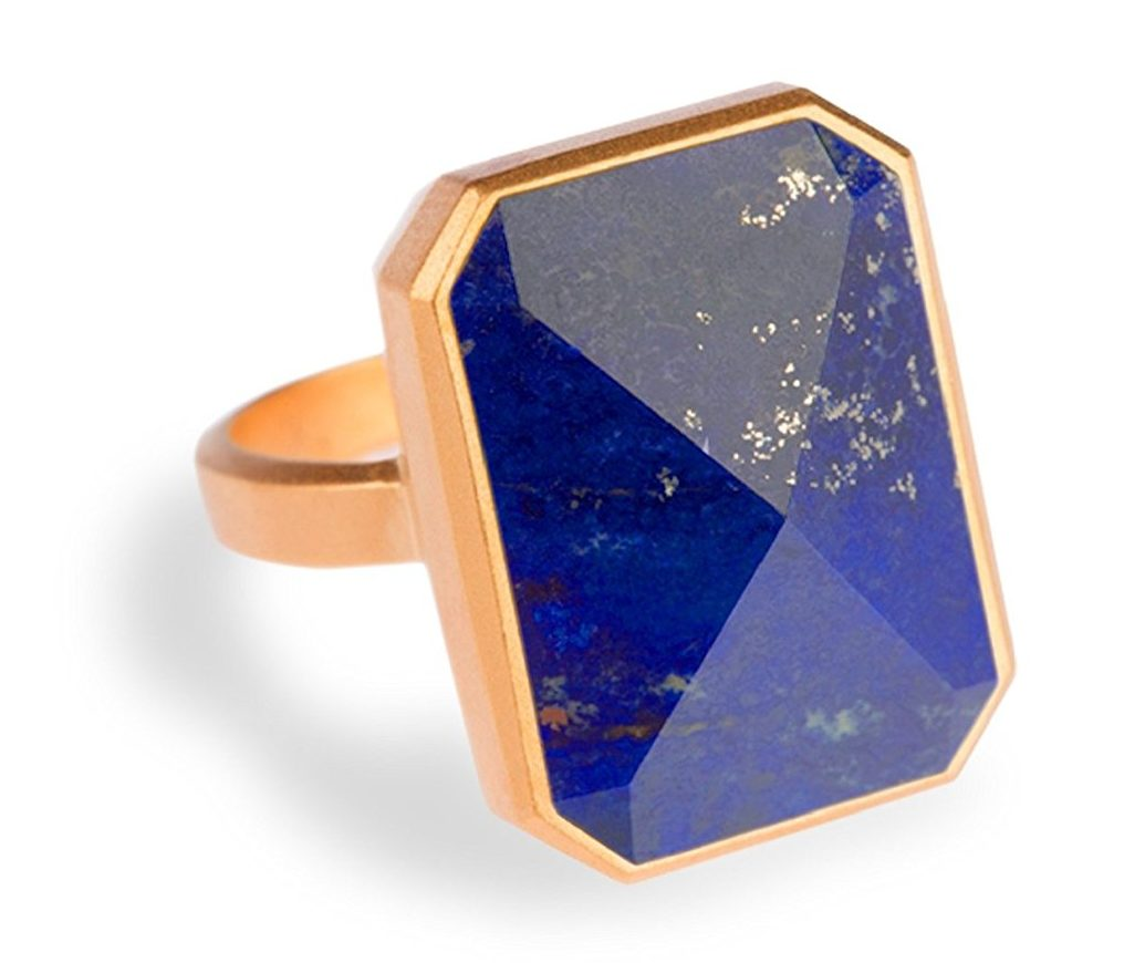 Ringly Aries Smart Ring Out To Sea Gold Lapis Buy